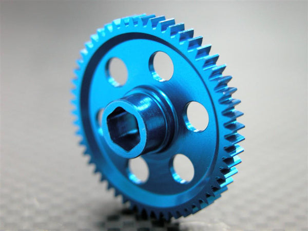 Team Associated RC18T Aluminum 7075 Main Gear (57T) - 1Pc Blue