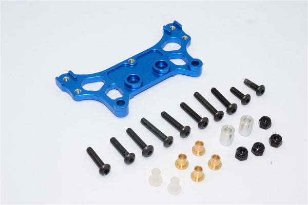 Tamiya M1025 Hummer Aluminum Rear Damper Mount - 1Pc Set Blue