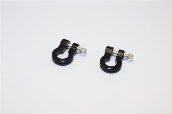 Aluminum Hook For RC Crawler, Jeep, and Truck Models - 2Pcs Set Black