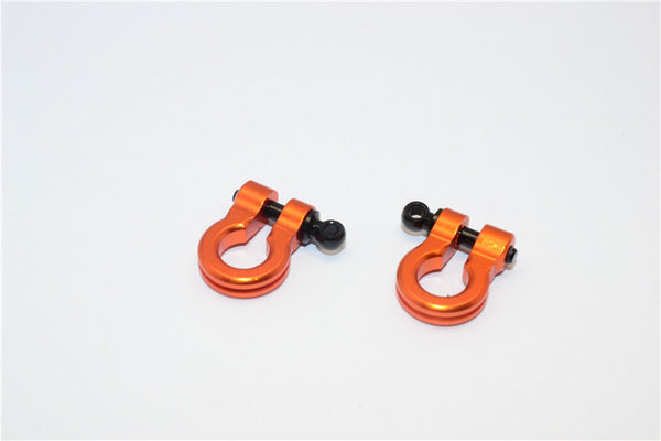 Aluminum Hook For RC Crawler, Jeep, and Truck Models - 2Pcs Set Orange