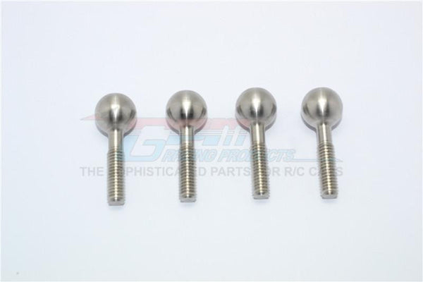 Thunder Tiger Truck K-ROCK MT4-G5 Stainless Steel Pillow Ball For Front Knuckle Arms - 4Pcs Set