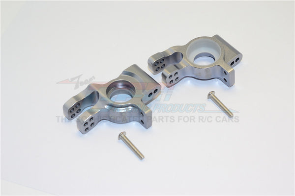 Thunder Tiger Truck K-ROCK MT4-G5 Aluminum Rear Knuckle Arms - 1Pr Set Gray Silver