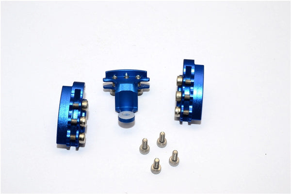 Kyosho Motorcycle NSR500 Aluminum Brake Rotor Mount - 3Pcs Set Blue