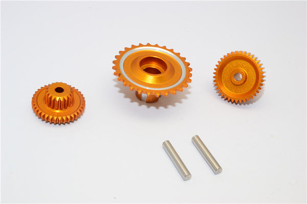 Kyosho Motorcycle NSR500 Aluminum Wheel Gear Assembly (52T+53T+55T) - 3Pcs Set Gold