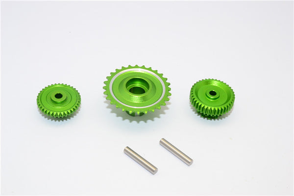 Kyosho Motorcycle NSR500 Aluminum Wheel Gear Assembly (52T+53T+55T) - 3Pcs Set Green