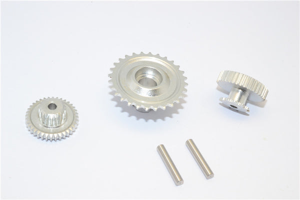 Kyosho Motorcycle NSR500 Aluminum Wheel Gear Assembly (52T+53T+55T) - 3Pcs Set Silver