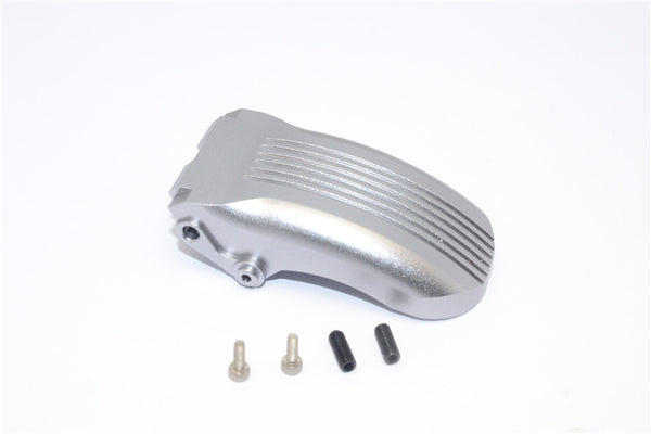 Kyosho Motorcycle NSR500 Aluminum Rear Wheel Fender - 1Pc Set Gray Silver