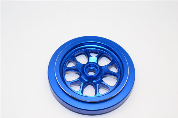 Kyosho Motorcycle NSR500 Aluminum Front Wheel (6 Spoke) - 1Pc Blue