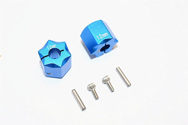 Thunder Tiger Kaiser XS Aluminum Wheel Hex (12mm X 12mm) - 2Pcs Set Blue