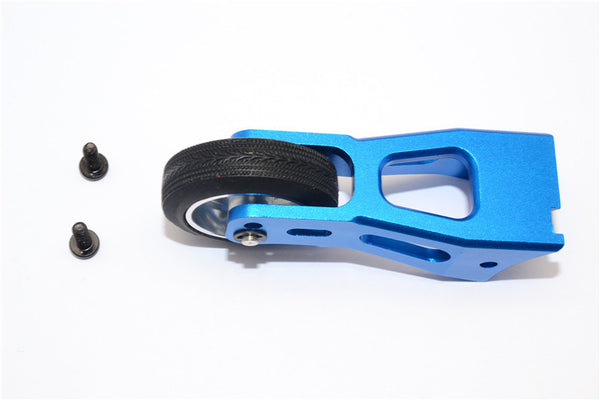Tamiya Lunch Box Aluminum Rear Wheelie Bar - 1 Set Blue