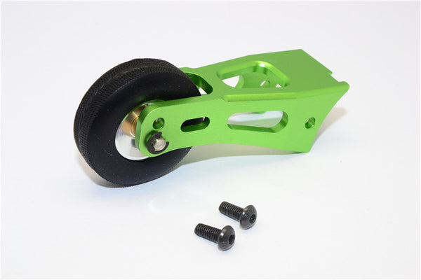 Tamiya Lunch Box Aluminum Rear Wheelie Bar - 1 Set Green