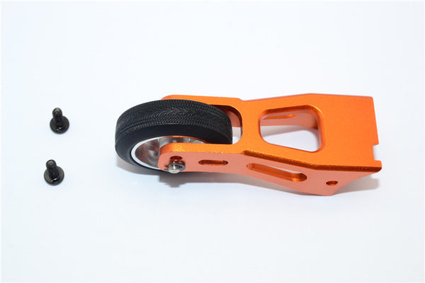 Tamiya Lunch Box Aluminum Rear Wheelie Bar - 1 Set Orange