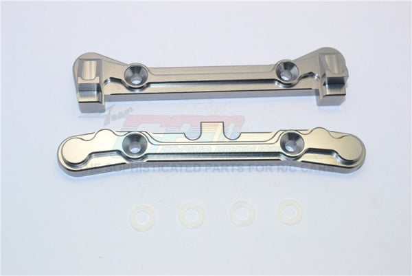 Team Losi 5ive-T Aluminum 7075 Rear Arm Bulk (4 Degree) - 2Pcs Gray Silver