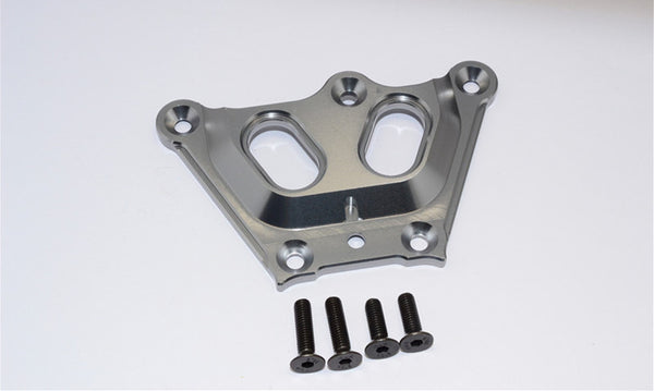 Team Losi 5ive-T Aluminum 7075 Front Top Chassis Brace - 1Pc Gray Silver