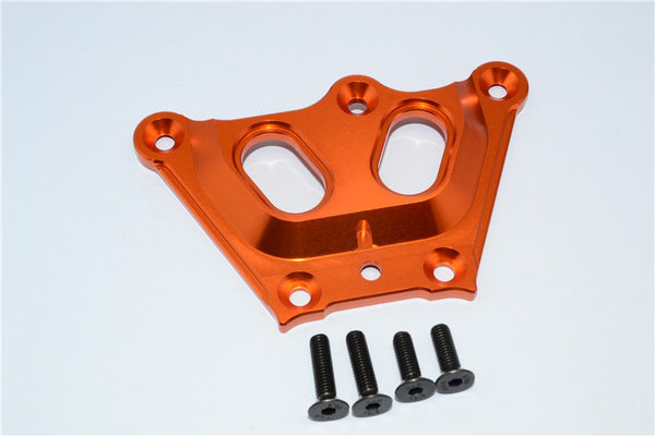 Team Losi 5ive-T Aluminum 7075 Front Top Chassis Brace - 1Pc Orange