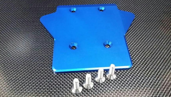 Team Losi 5ive-T Aluminum 7075 Rear Gear Box Protector - 1Pc Blue