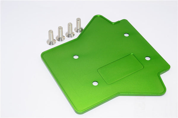 Team Losi 5ive-T Aluminum 7075 Rear Gear Box Protector - 1Pc Green