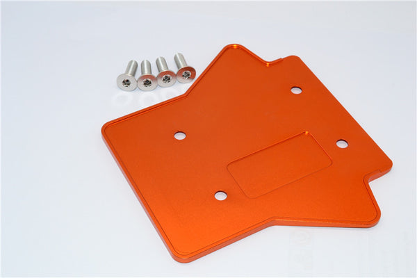 Team Losi 5ive-T Aluminum 7075 Rear Gear Box Protector - 1Pc Orange