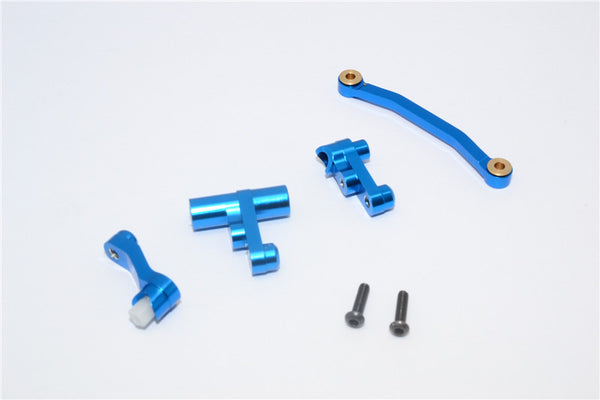 Traxxas LaTrax Rally / SST / Teton Aluminum Steering Assembly - 1 Set Blue