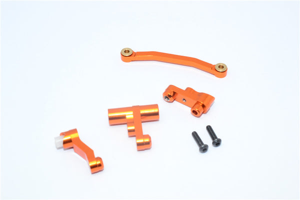 Traxxas LaTrax Rally / SST / Teton Aluminum Steering Assembly - 1 Set Orange