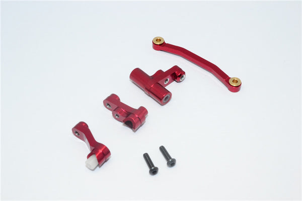 Traxxas LaTrax Rally / SST / Teton Aluminum Steering Assembly - 1 Set Red