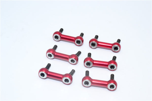 Traxxas Latrax Rally Aluminum Tie Rod (0 Degree) - 6Pcs Set Red
