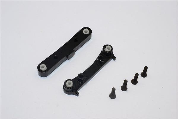 Team Losi Mini 8ight & 8ight-T Aluminum Rear Suspension Mount - 2Pcs Black