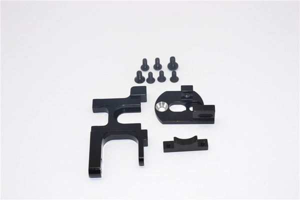Team Losi Mini 8ight & 8ight-T Aluminum Motor Heat Sink Mount - 1 Set Black