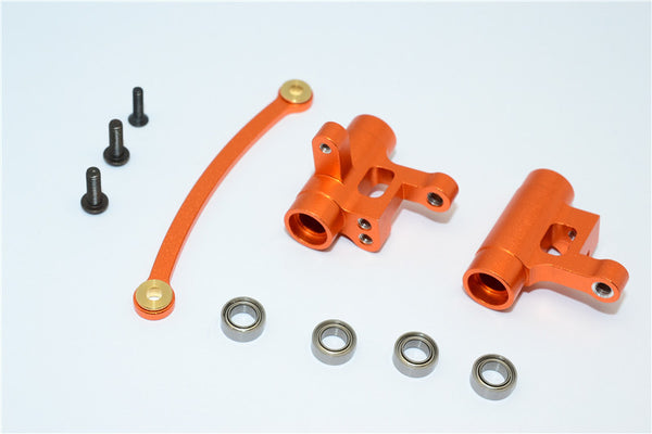 Team Losi Mini 8ight Aluminum Steering Assembly With Bearings - 3Pcs Set Orange