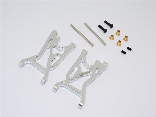 Team Losi Mini 8ight Aluminum Front Suspension Arm - 1Pr Set Silver