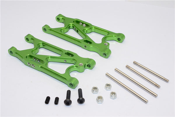 Team Losi Mini 8ight Aluminum Rear Suspension Arm - 1Pr Set Green