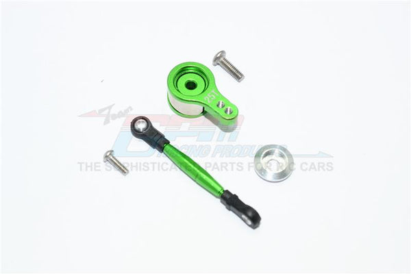 Team Losi Mini 8ight Buggy Aluminum Servo Saver With Steering Link - 1 Set Green