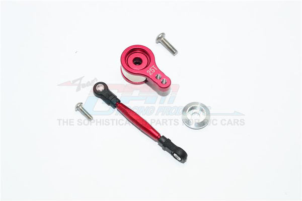 Team Losi Mini 8ight Buggy Aluminum Servo Saver With Steering Link - 1 Set Red