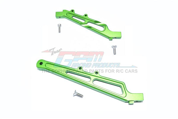 Arrma LIMITLESS / INFRACTION Aluminum Front + Rear Chassis Brace - 2Pc Set Green