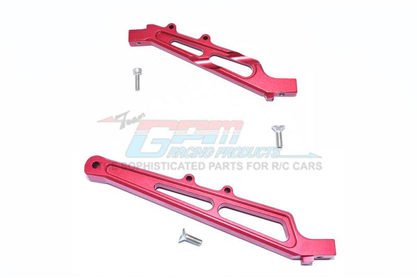 Arrma LIMITLESS / INFRACTION Aluminum Front + Rear Chassis Brace - 2Pc Set Red