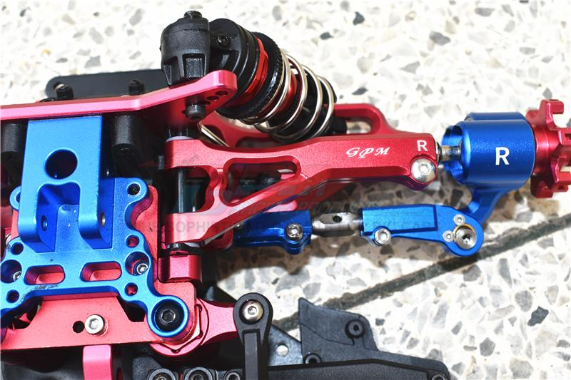 GPM Racing Aluminum Front Lower Arms Set Green Limitless Typhon Infraction