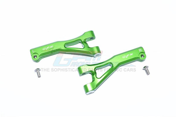 Arrma LIMITLESS / INFRACTION / TYPHON Aluminum Front Upper Arms - 2Pc Set Green