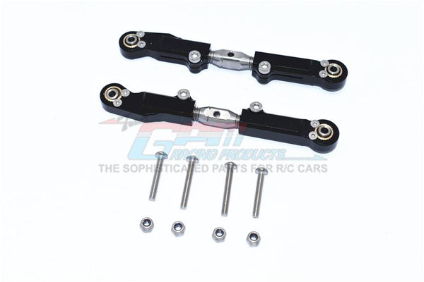 Arrma LIMITLESS / INFRACTION Aluminum+Stainless Steel Rear Upper Arm Tie Rod - 2Pc Set Black