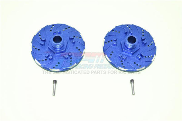 Arrma Infraction 6S BLX Aluminum +6mm Hex With Brake Disk With Silver Lining - 2Pc Set Blue