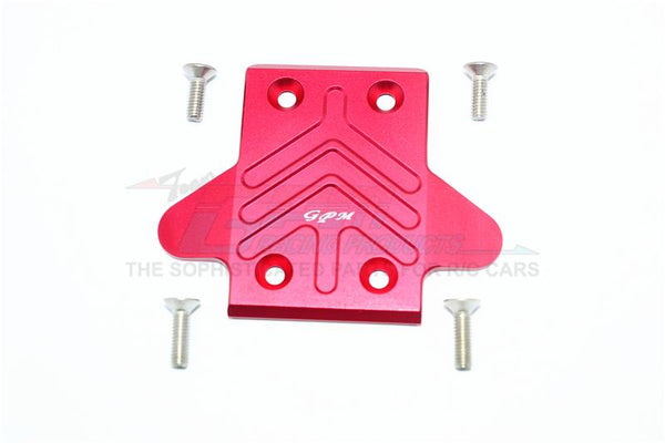 Arrma KRATON / OUTCAST / SENTON 6S BLX Aluminum Rear Chassis Protection Plate - 1Pc Set Red