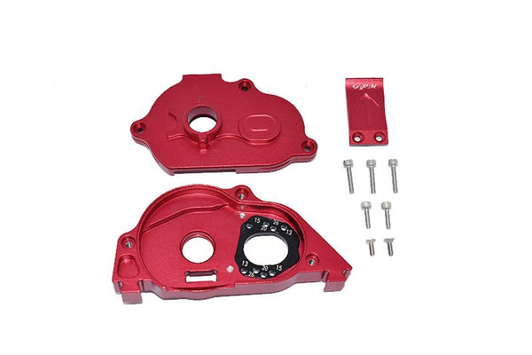 Arrma 1:10 KRATON 4S BLX / SENTON 3S BLX Aluminum Rear Gear Protection Motor Mount - 10Pc Set Red