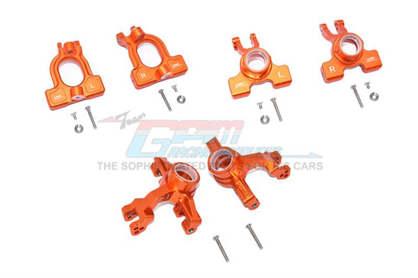 Arrma 1/10 KRATON 4S BLX Aluminum Front C-Hubs + Front & Rear Knuckle Arms - 20Pc Set Orange