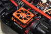 Arrma 1/5 KRATON 8S BLX / OUTCAST 8S BLX Aluminum Motor Heatsink With Cooling Fan - 1 Set Orange