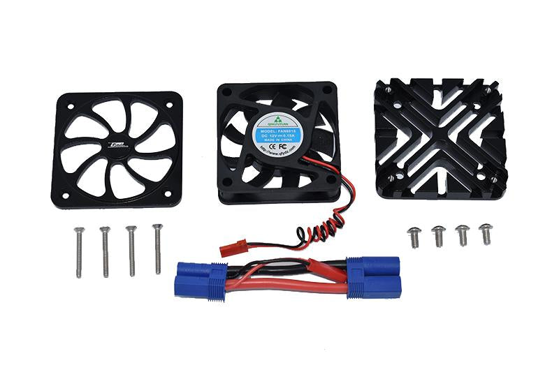 Arrma 1/5 KRATON 8S BLX / OUTCAST 8S BLX Aluminum Motor Heatsink With Cooling Fan - 1 Set Black