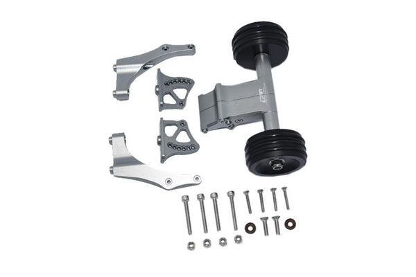 Arrma 1/5 KRATON 8S BLX / OUTCAST 8S BLX Aluminum Rear Wheelie With Wing Mount - 1 Set Gray Silver