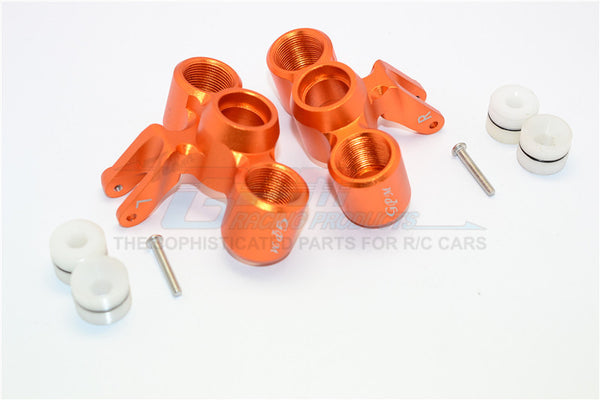 Arrma Nero 6S BLX (AR106009, AR106011) Aluminum Front Knuckle Arms - 1Pr Set Orange