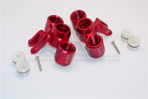 Arrma Nero 6S BLX (AR106009, AR106011) Aluminum Front Knuckle Arms - 1Pr Set Red