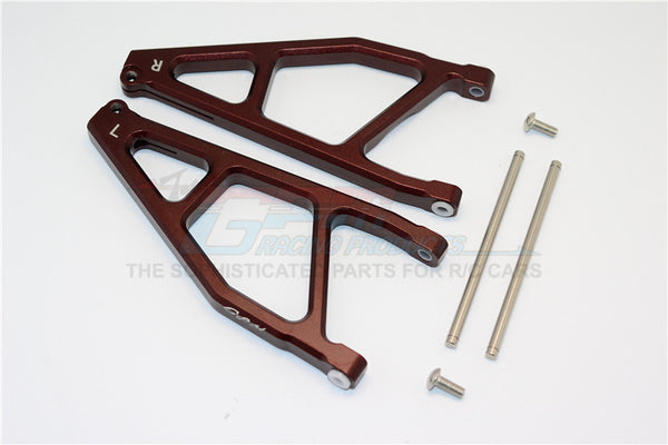 Arrma Nero 6S BLX (AR106009, AR106011) Aluminum Rear Upper Arms -1Pr Brown