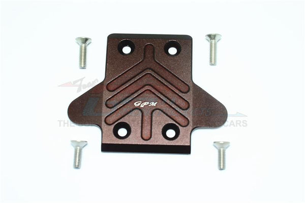 Arrma Senton 6S BLX Short Course (AR102654) Aluminum Front Chassis Protection Plate - 1Pc Set Brown