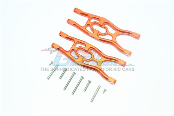 Arrma 1/10 Fazon Voltage 2WD (AR102675AU) Aluminum Frontor Rear Lower Suspension Arms - 1Pr Set Orange